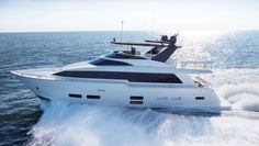 Hatteras Breaks Out of Its Conservative Mold with a Sexy Flybridge Yacht | Boating & Yachting
