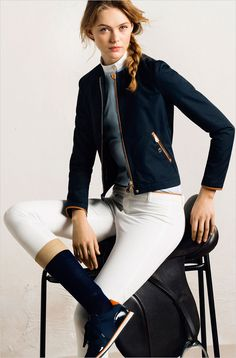 Frida Gustavsson for Massimo Dutti Esquestrian.