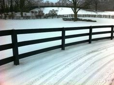 3-Rail Post and Rail Fencing