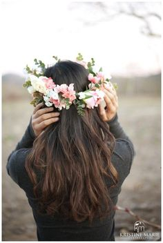 How to Make a Flower Crown | DIY Floral Crown | Craft Idea | Kristine Marie Photography