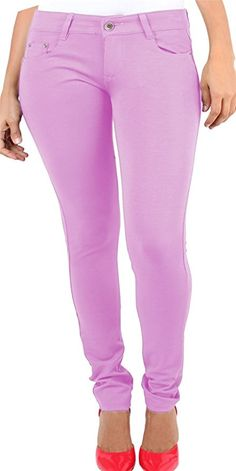 Vanilla Inc. Ladies Womens Skinny Plus Size Stretchy Fitted Jeggings Jeans  Baby Pink UK UK