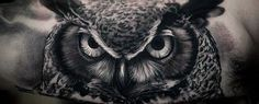 40 Realistic Owl Tattoo Designs For Men – Nocturnal Bird Ideas #Men_s_Style_And_Fashion
