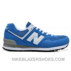 Online New Balance 574 Mens White Royal Blue Shoes 1c8e4a02325ca