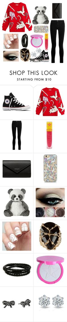 """Daria"" by ashleeramme on Polyvore featuring Converse, Paul & Joe, J Brand, Jeffree Star, Balenciaga, Rosantica, Porsche Design and Marc Jacobs"