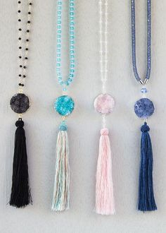 Long Tassel Necklace DIY Cherry Tree Beads
