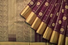 Handwoven Kanjivaram Silk Sari with Kottadi and Chakaram 1028385 - Saris / All Saris - Parisera