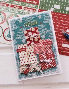 Новогодняя открытка своими руками: простые и эффектные идеи   elle-craft —…