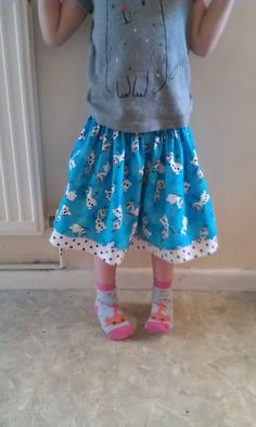 Frozen themed skirt with Olaf.