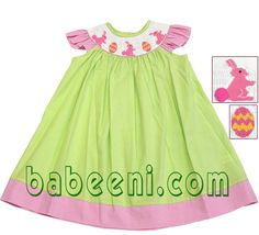 Smocked Baby Dress for Easter!  Large discount from January 5th-18th, 2012.  Available at http://babeeni.com