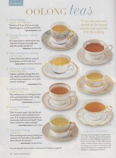 Best Benefits Of Oolong Tea, never knew there were so many different types!