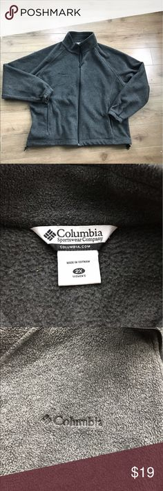 Columbia full zip front fleece athletic jacket 2x Columbia full zip front fleece jacket 2x. Super stylish and comfy. Excellent condition. From non-smoking, non-pet home.  💋Add to bundle to save on shipping costs! Don't forget to add any two things in my closet and receive an extra 10% off! no trades. Columbia Jackets & Coats