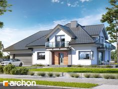 Dom w topolach Village House Design, Village Houses, Design Case, Home Fashion, Exterior Design, New Homes, House Styles, Home Decor, Wood