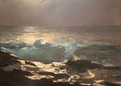 Moonlight by Winslow Homer, 1836-1910...would love a print of this for dining rm.
