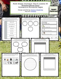 1st Grade Journeys (2014) Lesson 30 Interactive Notebook Pages. These interactive notebook pages are a great supplement to what is already included in the Journey's curriculum. I find that my students get more excited doing these types of activities rather than just workbook pages.
