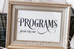 Matches sparkler tags - Wedding Programs Sign  Wedding Ceremony Please Take by marrygrams, $4.00