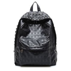 Meilaier Black Skull PU Leather Backpack Schoolbag Bookbags for Teen Boys  Girls College Meilaier http  17ab454ed9564