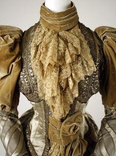 Dress  Date: ca. 1894 Culture: American (probably) Medium: silk