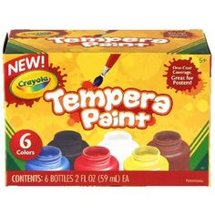 Crayola Tempera Paints 6 Pack