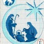 Nativity Scene in Cross Stitch Mehr Xmas Cross Stitch, Cross Stitch Charts, Cross Stitching, Cross Stitch Embroidery, Cross Stitch Patterns, Embroidery Patterns, Religious Cross, Theme Noel, Christmas Embroidery
