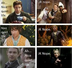 LOL (martin freeman in the hobbit, sherlock, and Hitchhicker's guide to the galaxy)
