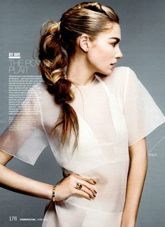 By Day: Power Plait | The Transformer Jessica Hart by Yu Tsai for Cosmopolitan US June 2013 See more from this set here