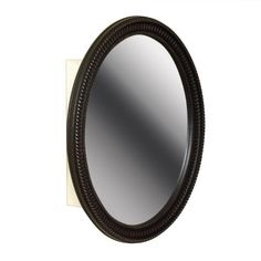 Zenna Home 25 in. W x 32 in. H Zenith Oval Mirror Surface Mount Medicine Cabinet in Oil Rubbed Bronze Large Oval Mirror, Oval Frame, Beveled Mirror, Surface Mount Medicine Cabinet, Recessed Medicine Cabinet, Bathroom Medicine Cabinet, Medicine Cabinets, Kitchen Bath Collection, Light Reflection