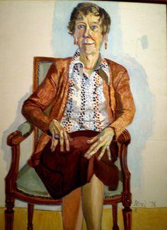 Alice Neel Portraits   Alice Neel 1976 'Portrait of Ellen Johnson, Allen Memorial Art Museum ...