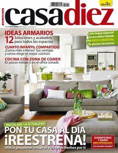 Revista Casa Diez - Septiembre 2015. Descargar Gratis pinchando sobre la imagen. #decoración #interiorismo