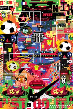 "ArtScience Museum Singapore presents Nike's ""The Art & Science of Modern Football."" 25 artists from across the world — including Olivier Lutaud, YoAz, Rik Oostenbroek, Quiccs, Studio Blup, Kerby Rosanes, Kazu Livingstone, Ronan Leung, Mojoko, Eric Foenander, and The Beast — have created stunning artworks based on Nike Football's heritage. #Football #nike #ar t#graphic design #illustration #performance"