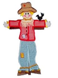 Applique Scarecrow- 3 Sizes!   Halloween   Machine Embroidery Designs   SWAKembroidery.com Band to Bow