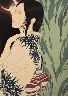 九鬼匡規(Masachika Kuki). Japanese Art Prints, Japanese Painting, Grace Art, Disney Characters, Fictional Characters, Culture, Fine Art, Disney Princess, Drawings