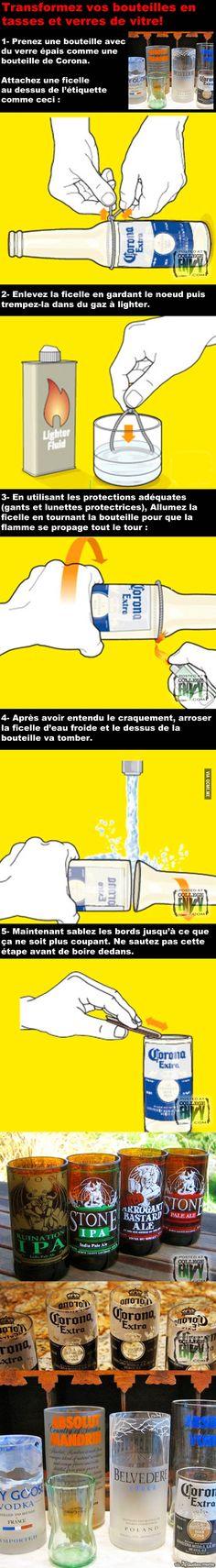 Se faire une Tasse de BOSS – #upcycling #bouteille #verre