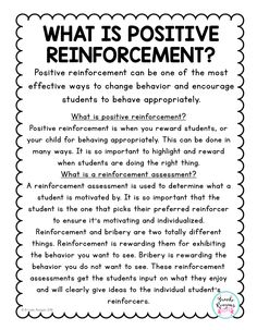 Positive reinforcement can be one of the most effective ways to change behavior. Behavior Plans, Classroom Behavior Management, Classroom Consequences, Behavior Charts, Behavior Tracking, Whole Brain Teaching, Child Teaching, Self Esteem Worksheets, Positive Reinforcement