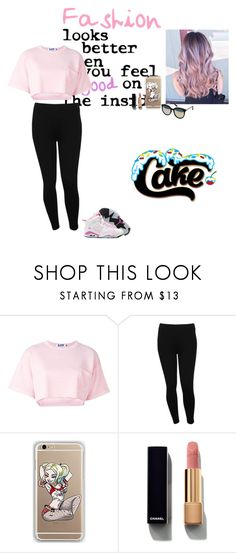 """""""Untitled #1195"""" by sapphirejones ❤ liked on Polyvore featuring Steve J & Yoni P, M&Co, Chanel and Quay"""