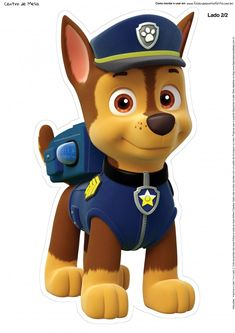Paw Patrol - Meet the characters from the Nickelodeon hit show for preschoolers, Paw Patrol.: Chase from Paw Patrol Paw Patrol Rocky, Paw Patrol Birthday Cake, Paw Patrol Party, Birthday Cake Toppers, Paw Patrol Show, Paw Patrol Cartoon, 3rd Birthday Parties, Boy Birthday, Birthday Ideas