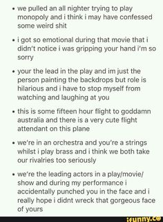 Bonus points for the second one id they're strangers and I'm the cinema
