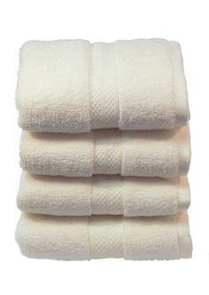 SERENITY PLATINUM Set of 4 Ivory MicroCotton Hand Towels