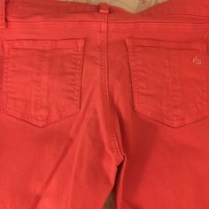 Rag and bone jeans Hot pink colored jeans with zipper at ankle. Skinny jeans and stretchy. rag & bone Jeans