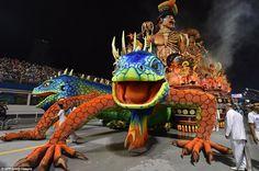 Magnificent creatures: The administrator of the Uniao da Ilha samba school, Marcio Andre M...