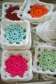 Crochet granny squares- Blanket to be