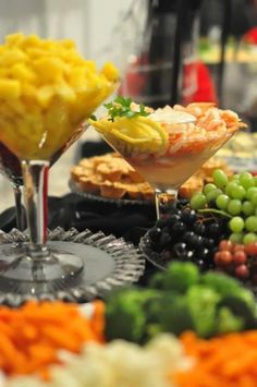 love the mac and cheese in martini glasses
