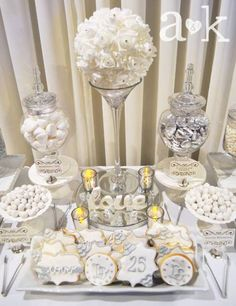 Silver Wedding Anniversary Dessert Buffet by A