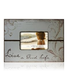 Take a look at this Sage 'Live A Good Life' Decoupage 4'' x 6'' Frame by Argento SC on #zulily today!