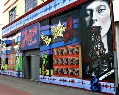 """Graffiti """"Juice Club"""" Hamburg, Germany"""