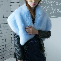 Women's Accessories Women Fur Scarf Jacket Real Fox Fur Collar Women Winter Coat Fur Scarves Luxury Fox Fur Warm Neck Warmers Scarf Women's Scarf Sets Hat Glove Sets
