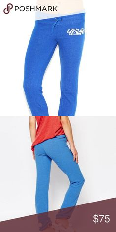 Wildfox blue joggers NWT Wildfox blue Malibu skinny in night owl! No trades open to offers thru offer feature! Wildfox Pants Track Pants & Joggers