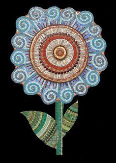 Swirly Flower   Irina Charny Mosaics