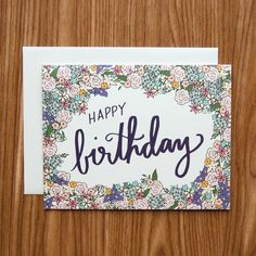 Happy Birthday Flower Bomb Card from Happy Cactus Designs