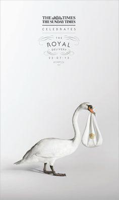 Publicités sur la naissance du bébé royal !