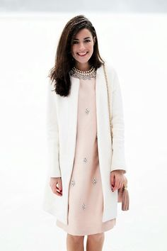Tory Burch dress, jcrew jacket; beautiful combination and great for chilly Easter Sundays !